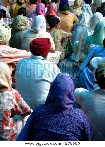 Hindu People Listening To A Guru