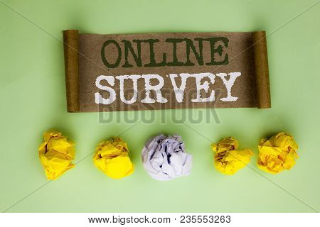 Handwriting Text Online Survey. Concept Meaning Digital Media Poll Customer Feedback Opinions Questi