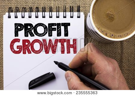 Text Sign Showing Profit Growth. Conceptual Photo Financial Success Increased Revenues Evolution Dev