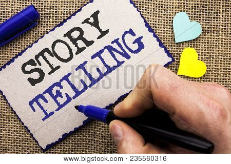 Conceptual Hand Writing Showing Story Telling. Business Photo Showcasing Tell Or Write Short Stories