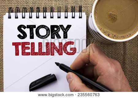 Text Sign Showing Story Telling. Conceptual Photo Tell Or Write Short Stories Share Personal Experie