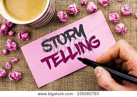 Conceptual Hand Writing Showing Story Telling. Business Photo Text Tell Or Write Short Stories Share