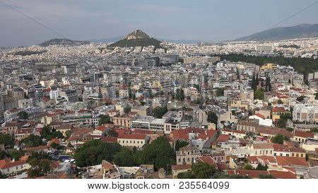 Densely Populated Urban District In Serres City, Greece