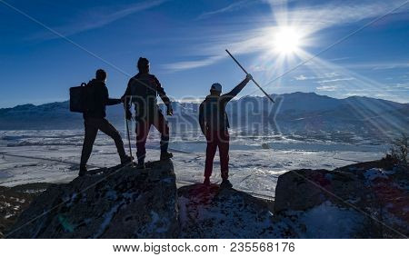 Peak Success Of A Group Of Mountaineers