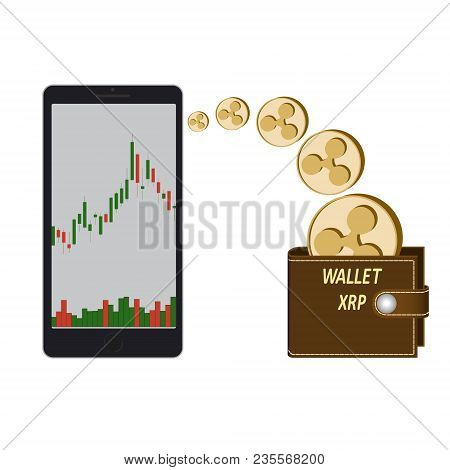 Transfer Ripple Coins In The Electronic Wallet, Buying And Transfer Of Ripple To Wallet On A White B