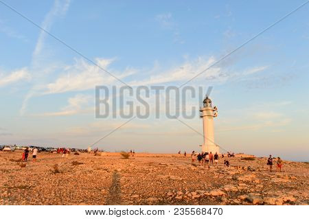 Wide View Of The Sunrise In The Barbaria Lighthouse, In The Southwest Of The Island Of Formentera, O