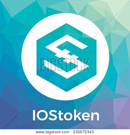Iostoken (iost) Vector Logo. Decentralized Internet Of Services. A Secure Scalable Blockchain For Sm