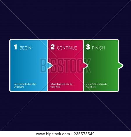 1 2 3 Steps Form Rof Presentation, Infographic Concept, Vector Eps 10