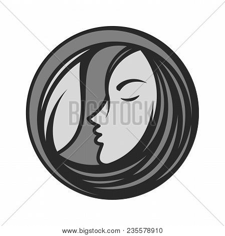 Best Creative Silhouette Woman Face Icon Vector For Beauty Care, Yoga, Fashion And Cosmetic With Fac