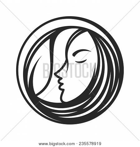 Best Creative Silhouette Woman Face Icon Vector With Line For Beauty Care, Yoga, Fashion And Cosmeti