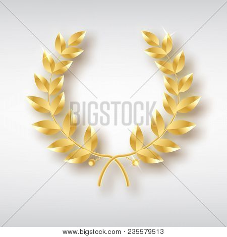 Award Laurel. Symbol Of Victory And Achievement. Design Element For Decoration Of Medal, Award, Coat