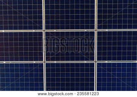 Aerial Drone View On Photovoltaic Panels On Solar Farm