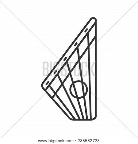Gusli Linear Icon. Thin Line Illustration. Russian Psaltery. Contour Symbol. Vector Isolated Outline