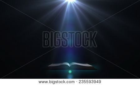 The Book In A Mysterious Light. A Mysterious Book.