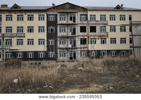 Abandoned building. Abandoned construction. Grunge building. Unfinished building. Urban grunge. Grunge style. Grunge architecture. Grunge buildings.