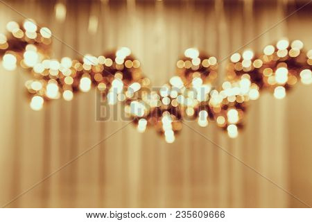 Blur Of Ceiling Electric Lamp Background Blurred Background Electric Lamp On Ceiling Bokeh. Vintage