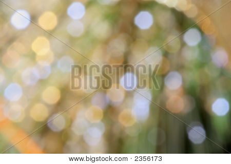 Intentional Out of focus Christmas tree lights poster