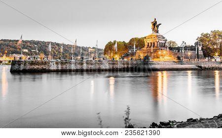 Deutsches Eck In Koblenz Rhineland-palatinate Germany Picture