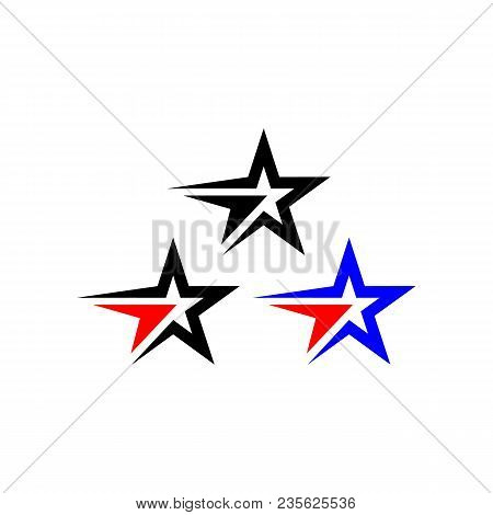 Star Color Vector Logo,star Color Icon, Star Rating, Rank. Star Astrology Symbol. Star Icon Logotype