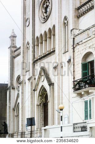 Neo-Gothic Carmelite Parish Church, St Julian's, Malta poster