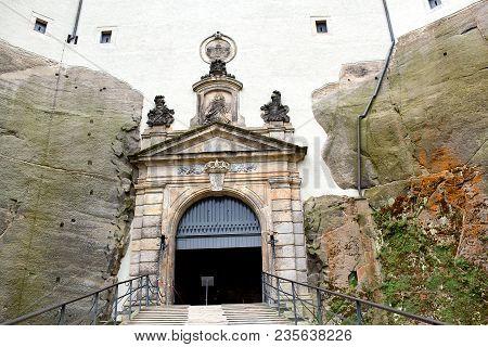 Konigstein Fortress German: Festung Konigstein , The Saxon Bastille, Is A Hilltop Fortress Near Dres
