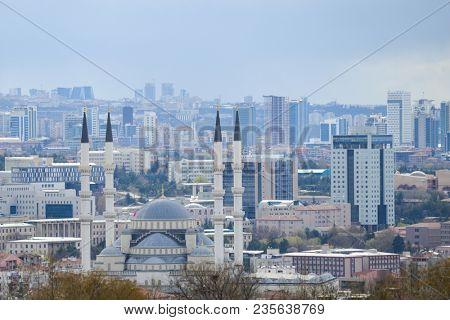 Ankara in an dark rainy day - Ankara, Turkey