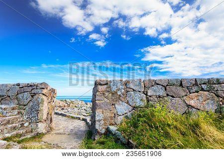 Fort Christiansoe Naval Fortress Near Island Bornholm In The Baltic Sea Denmark Scandinavia Europe.