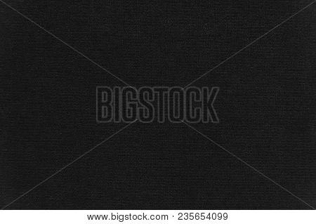Black Velvet Background Texture. Blue Fabric Velvet