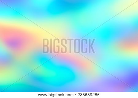 Blur Holographic Neon Foil Background. Abstract Holographic Background. Design Template.