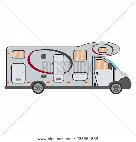 Camper Cars Mobile Home Trailers Recreational Vehicles. Trailer Home Travel Mobile Camping Caravan I
