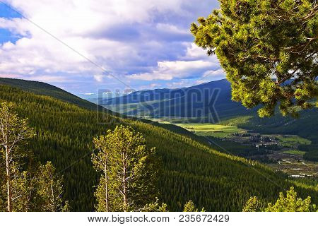 View From Milner Pass In Rocky Mountain National Park, Colorado