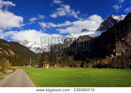 Kandersteg alpine landscape in Switzerland, Europe
