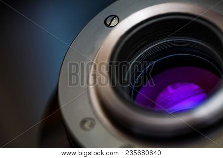 Close-up Of The Back Of A 200mm M42 Lens