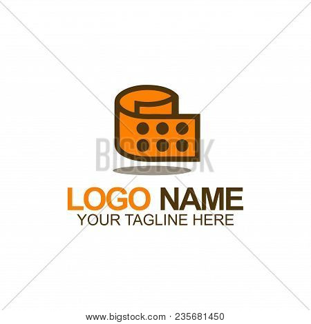 Dice Paper Roll Logo  Suitable For Logo Club, Recreation, And Etc