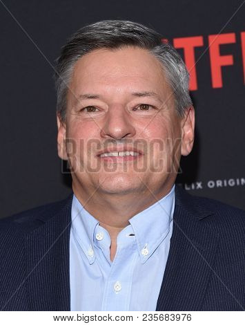 LOS ANGELES - APR 09:  Ted Sarandos arrives to the premiere of Netflix's
