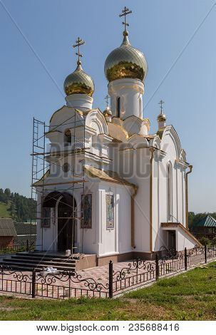 Kaimskoye, Russia - July 18, 2015: Church On The Territory Of The Recreation Center Health-improving