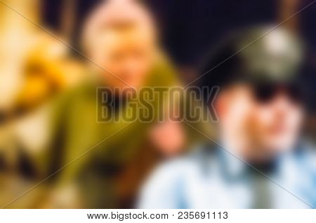 Theatre Play Theme Creative Abstract Blur Background With Bokeh Effect