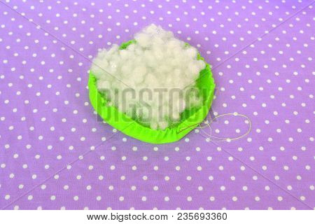 How To Make A Felt Pin Cushion, Step-by-step. Sewing Concept. How To Teach A Child To Sew By Hand. S