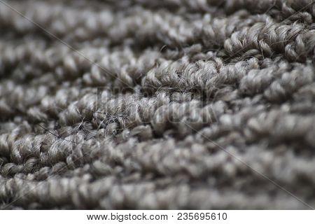Carpet Grey Floor Carpet Up Close, Macro Shot Of Clean Carpet, Grey Simple Floor Carpet Texture