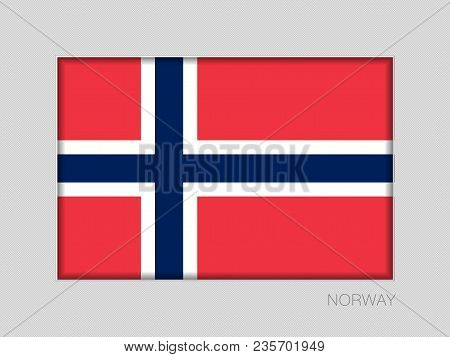 Flag Of Norway. National Ensign Aspect Ratio 2 To 3 On Gray