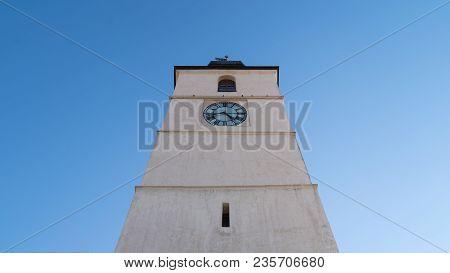 View To The Council Tower Of Sibiu, Transylvania, Romania.