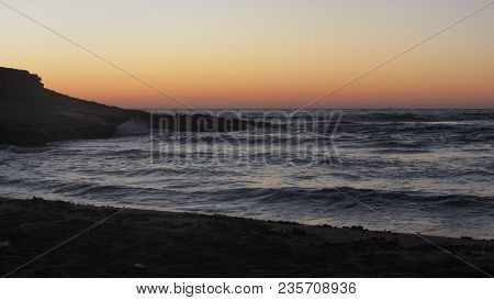 Cabo De Gata - Almeria - Spain. August 9, 2016. Sunrise In El Playaso Of Rodalquilar Beach. Gata-níj