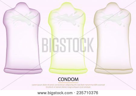 Three Condom Concept : The Sperm Is Broken But The Bag Is Not Broken. For Protect Virus Hiv.