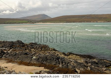 A View Across The Waters Of The Kyle Of Durness To The Shore And Hill, Fashven, Of Cape Wrath, Scotl