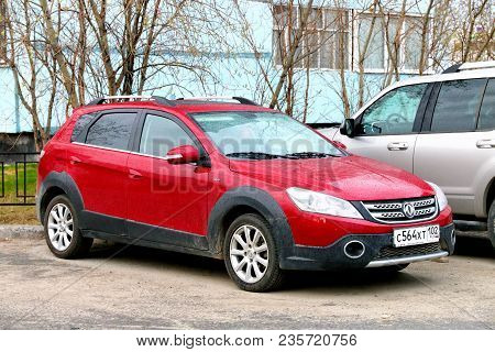 Novyy Urengoy, Russia - June 16, 2017l Motor Car Dongfeng Dfm H30 Cross In The City Street.