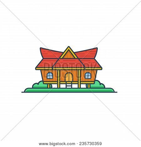 Kajang Leko - Jambi Traditional House, Indonesia