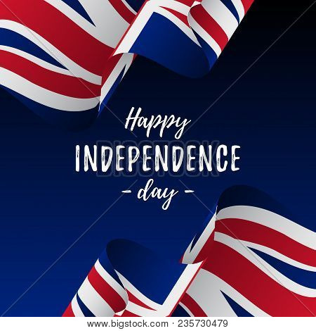 Banner Or Poster Of Great Britain Independence Day Celebration. Great Britain Flag. Vector Illustrat