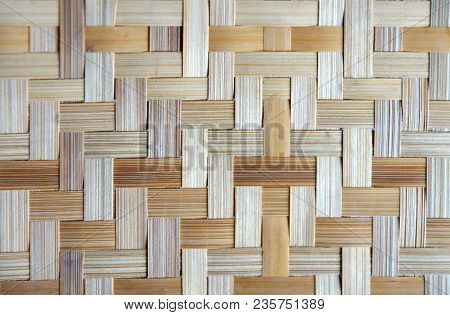 Bamboo Or Straw Weaving Texture As Background