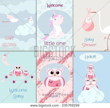 Baby Shower Toys Card Vector Cute Scrapbook Announcement Greeting Newborn Illustration. Love Kid Boy