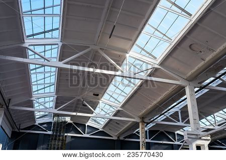 Roof In Production With Glazing To Penetrate Sunlight